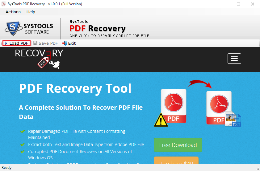 Recovery file corrupted pdf
